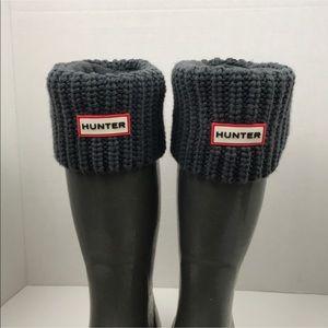 Hunter Gray Knit Fleece Boot Socks